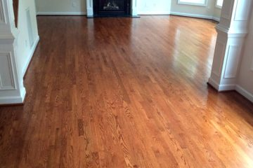Family Room Hardwood Floor Install