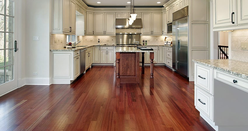 Kitchen Cherry Wood Floor