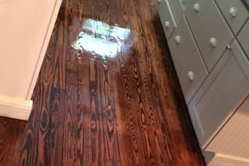 Kitchen Hardwood Floor Stained
