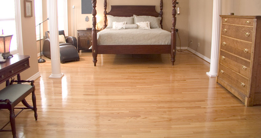 prefinished hardwood bedroom