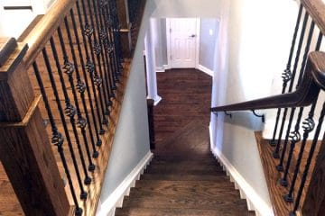 Refinishing Wood Stairs and Rails