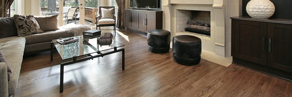 Wood floor family room