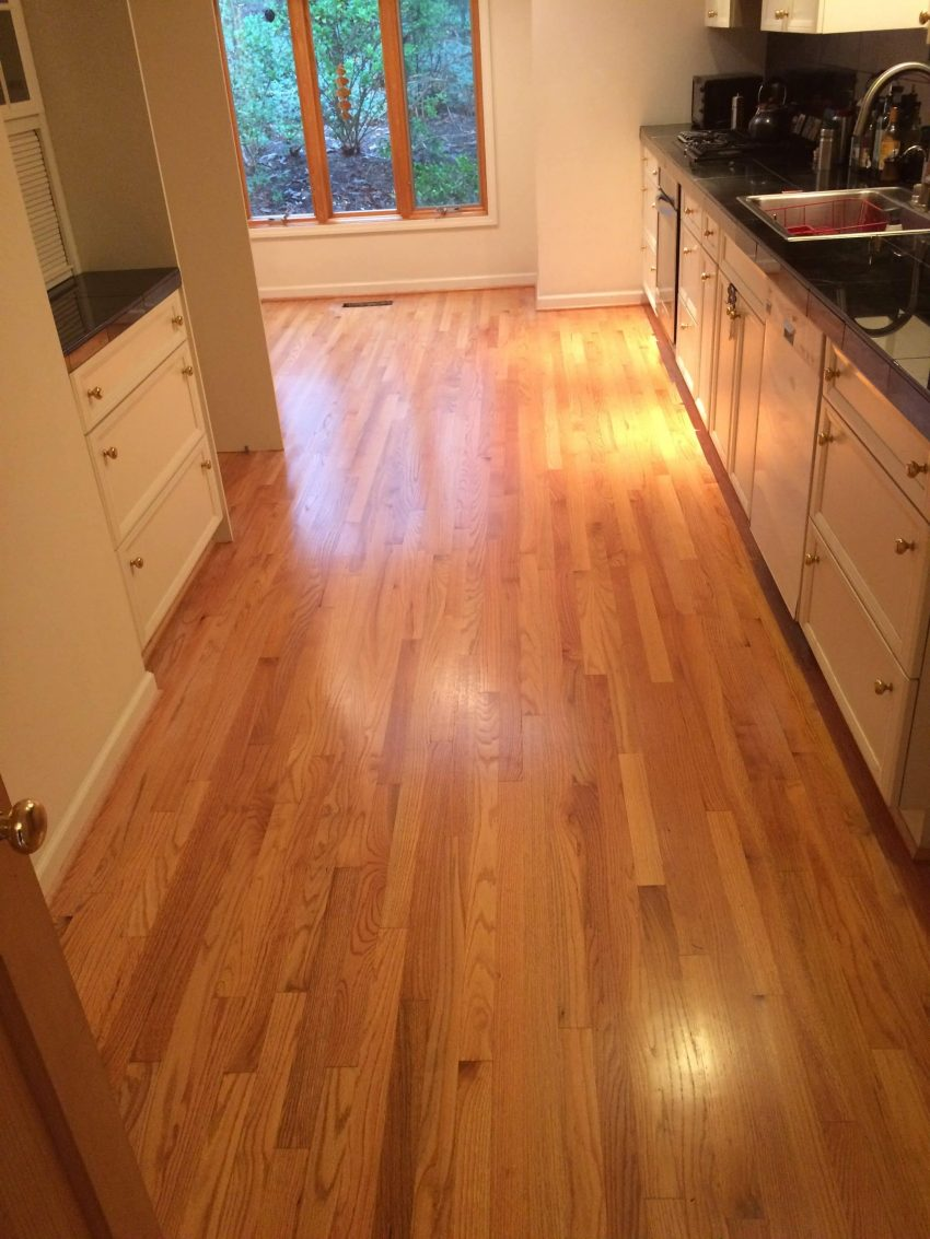 Kitchen floor sanded and refinished